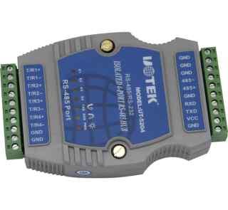 4口RS485导轨式智能集线器