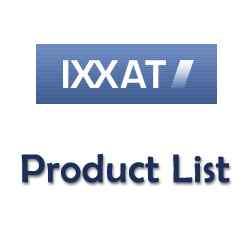 IXXAT产品名称表