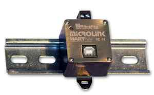 DIN轨道安装HART协议网关USB接口