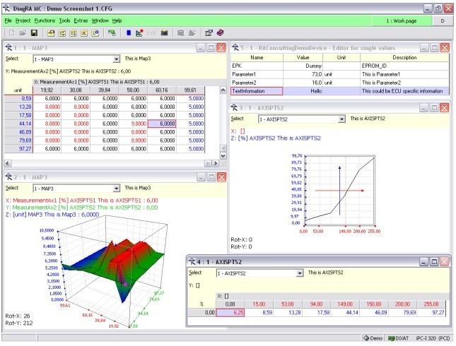 DiagRA-C Calibration Software
